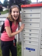 So excited about the new mailbox I made my mom come take a picture of me with it