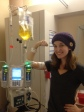 Being started on TPN via a PICC line in the hospital, p.s. the vitamins make it yellow...it's not pee!