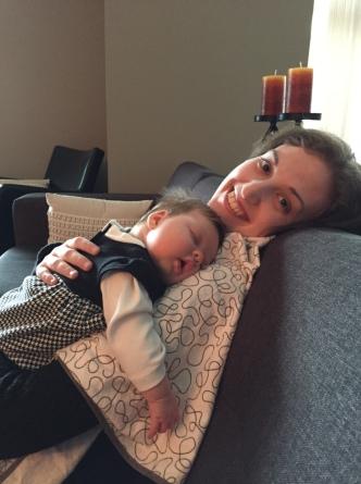 Nora cuddles